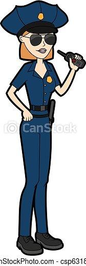 femme, police, officer.eps - csp63182625