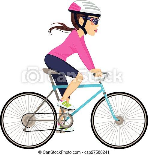 femme professionnelle, cyclisme - csp27580241