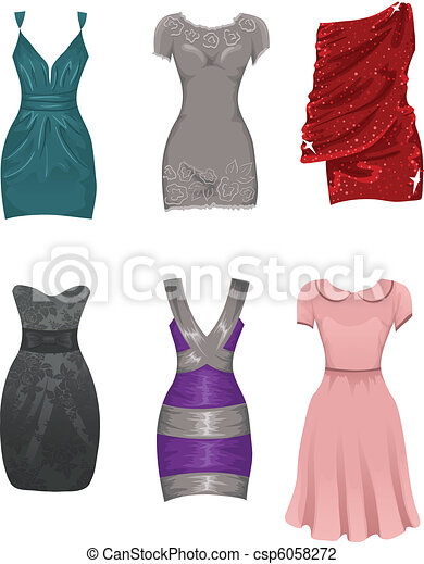 femme, robes - csp6058272