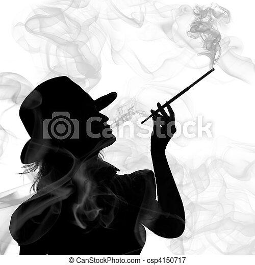 femme silhouette isol fond fumer blanc image recherchez photos clipart csp4150717. Black Bedroom Furniture Sets. Home Design Ideas