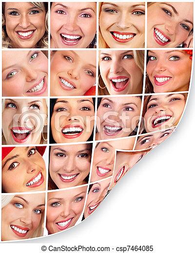 femme, smile. - csp7464085
