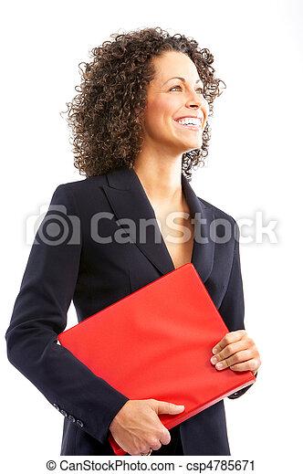 femme souriant, business - csp4785671