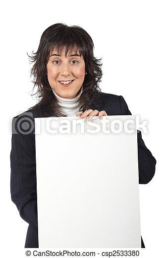 femme souriante, business - csp2533380