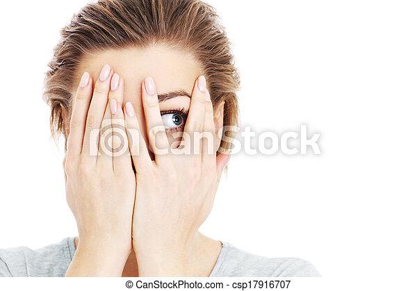 femme, terrifié - csp17916707