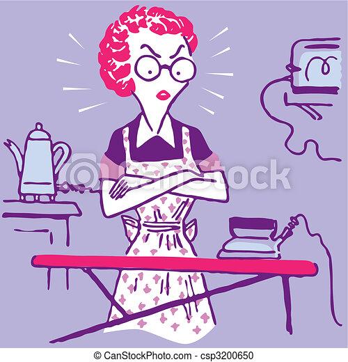 foto de Femme travail foyer conjugal femme foyer vecteur
