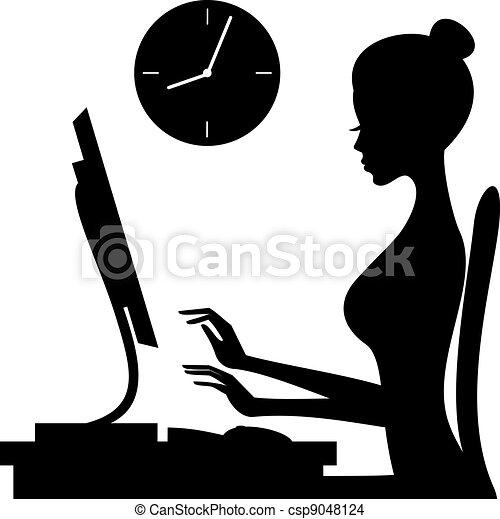femme, travail - csp9048124