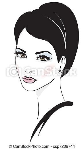 femme, vecteur, illustration, figure - csp7209744