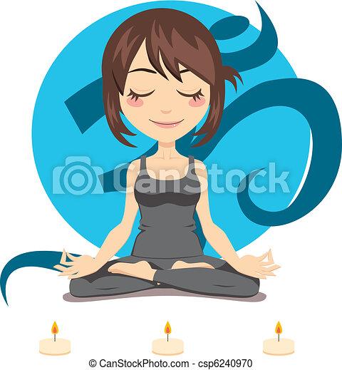 femme, yoga - csp6240970