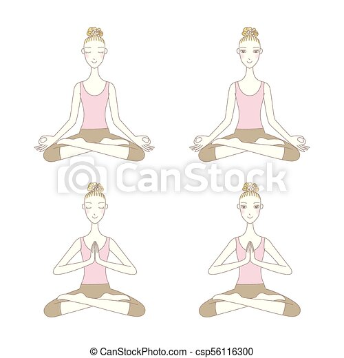 dernière dessin yoga facile  the vegen princess