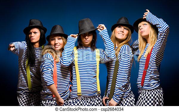 femmes, cinq, équipe - csp2684034