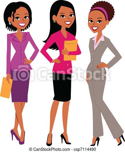 femmes, groupe - csp7114490