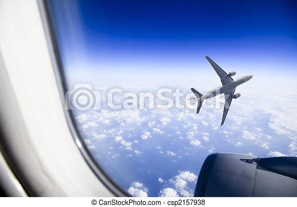 fenêtre avion - csp2157938