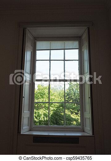 fenêtre, britannique, vue - csp59435765