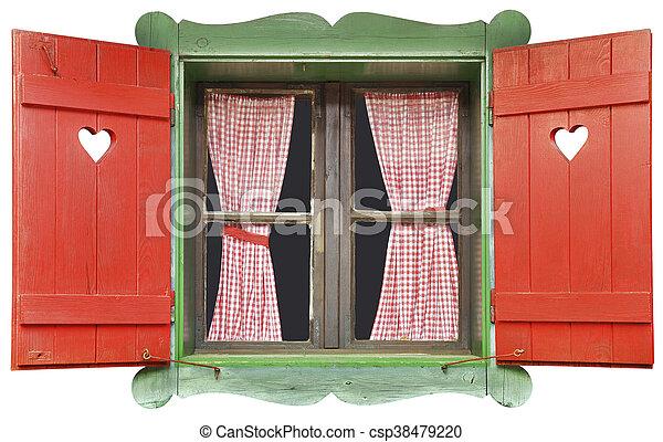 fenêtre, chalet, coupure - csp38479220