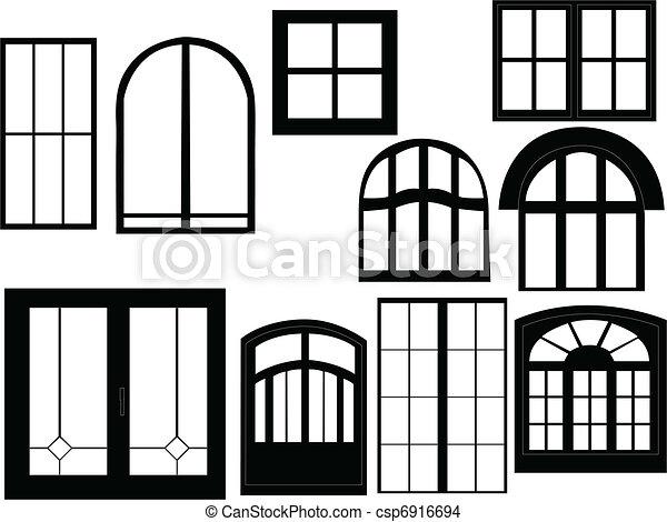 fenêtre, collection - csp6916694