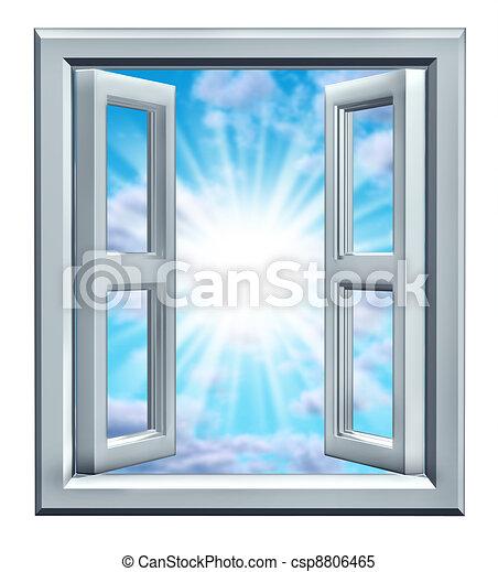 fenêtre, occasion - csp8806465