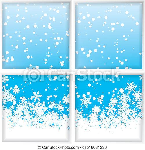 Fen tre par hiver par hiver vecteurs for Fenetre hiver