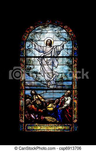 fenêtre verre, taché - csp6913706