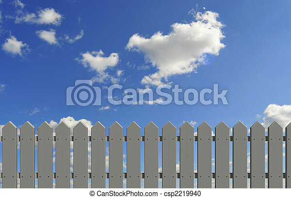 fence and sky - csp2219940
