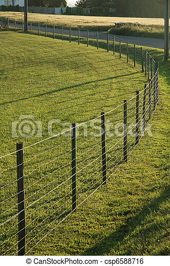 Fence in a meadow - csp6588716