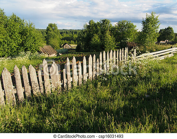 fence in the countryside - csp16031493