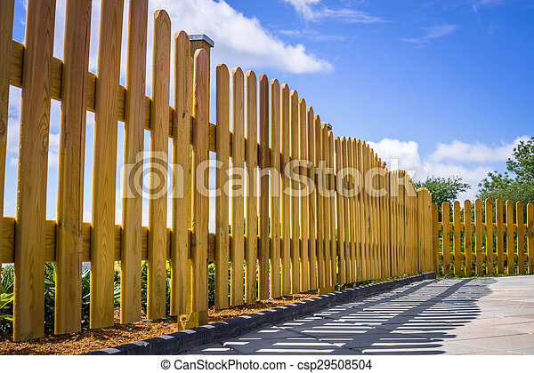 Fence on a terrace - csp29508504
