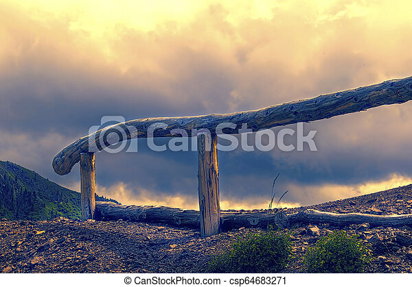 fence on the hilly - csp64683271