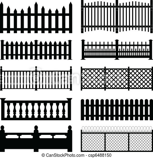 Fence Picket Wooden Wired Park Yard - csp6488150