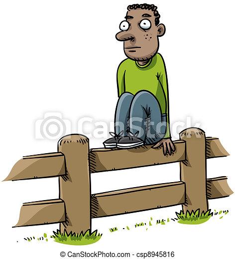 Fence Sitter - csp8945816