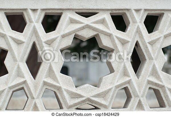 fence stone decoration - csp18424429