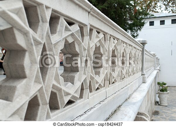 fence stone decoration - csp18424437