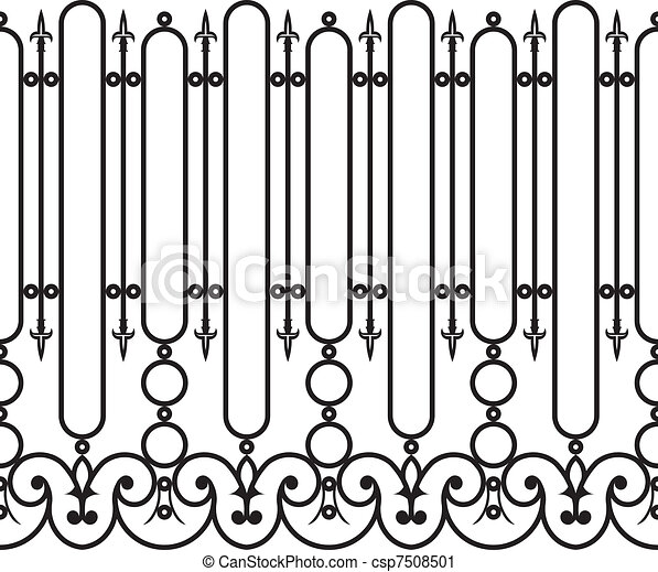 Fence wrought iron seamless - csp7508501