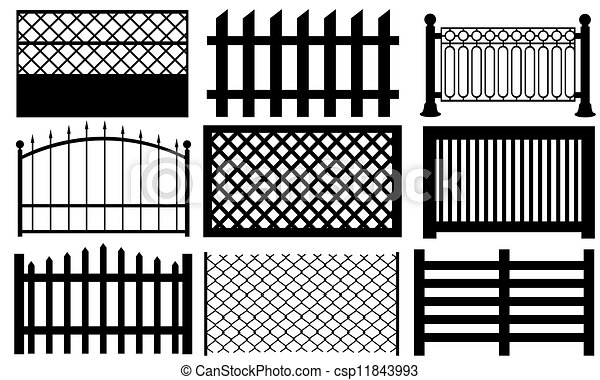 Set Of Fences Isolated