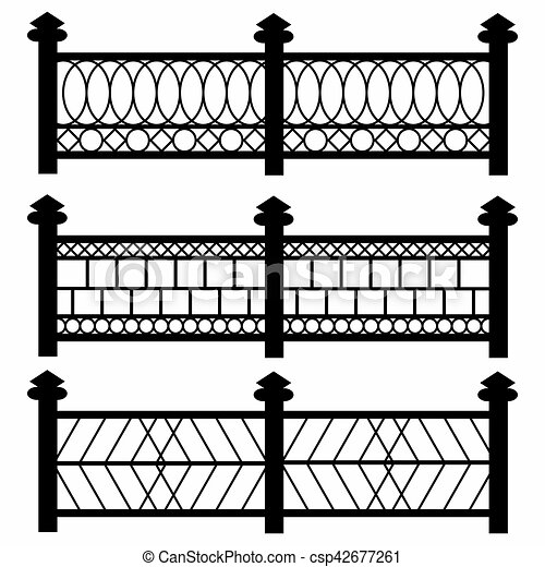 Fences Isolated Symbols Collection
