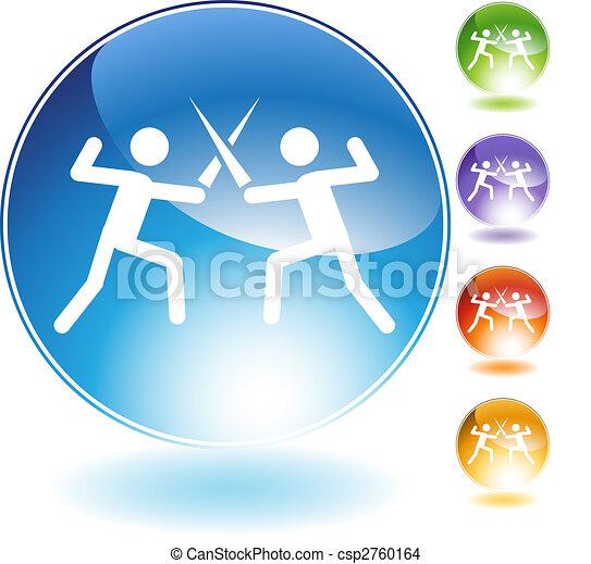 Fencing Crystal Icon - csp2760164