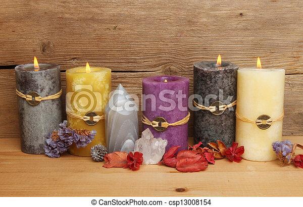 Feng Shui candles  - csp13008154