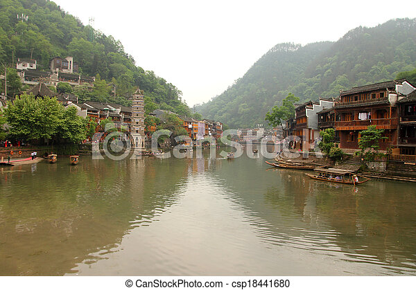 Fenghuang ancient town in China - csp18441680