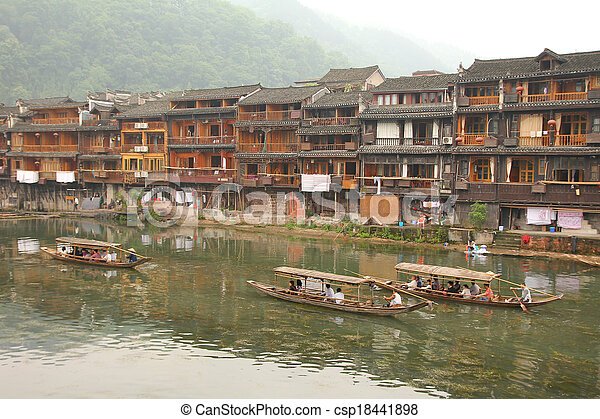 Fenghuang ancient town in China - csp18441898