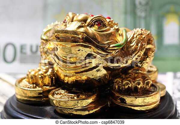 Fengshui Money Frog Symbol Of Luck In Finance Stock Photographs