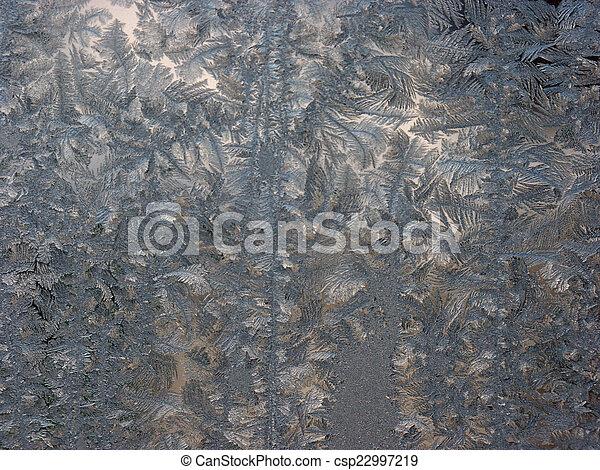 Gefrorenes Fenster - csp22997219