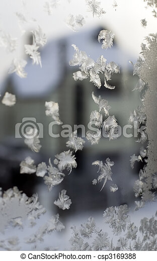 Gefrorenes Fenster - csp3169388