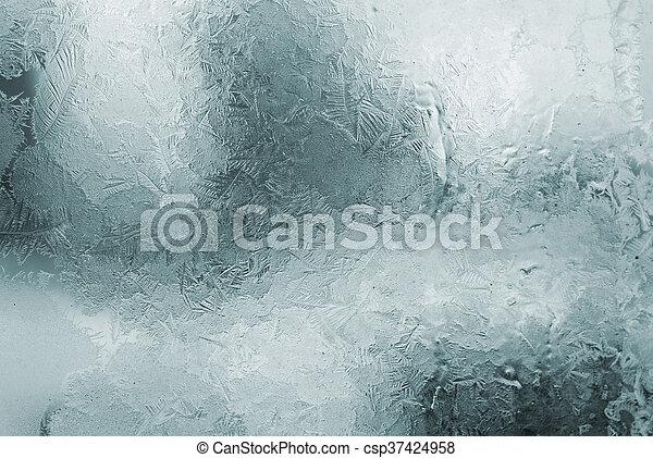 Gefrorenes Fenster - csp37424958