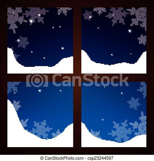 Fenster winter fenster vektor schneeflocken abbildung for Fenster 800x800