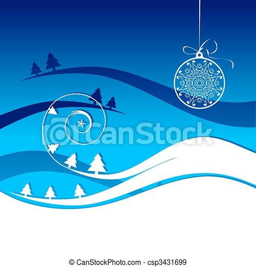 feriado, inverno, cartão, natal - csp3431699