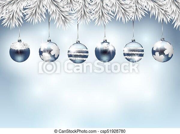 feriado, natal, ilustração - csp51928780