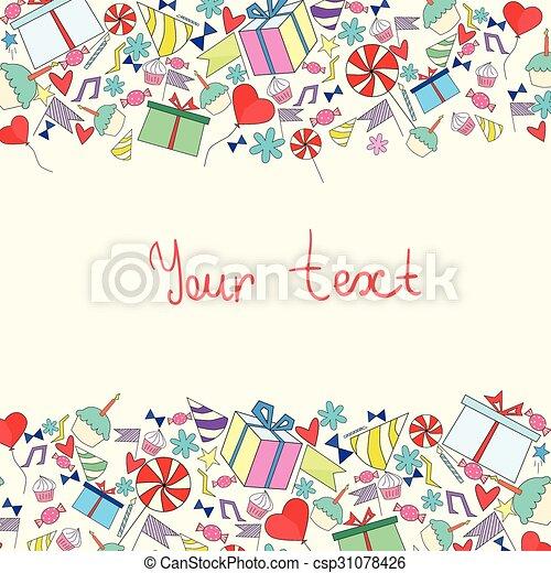 Vector Festivo De Cumpleaños Con Tarjeta Invitación De