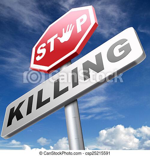 fermata, uccisione - csp25215591