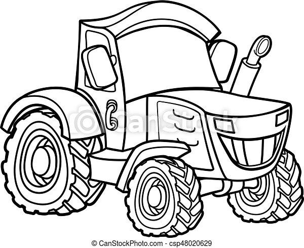Ferme dessin anim tracteur tracteur ferme dessin anim illustration v hicule - Dessin anime avec tracteur ...