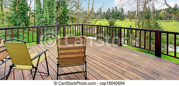 ferme, merveilleux, vue, paysage, pont - csp18040694