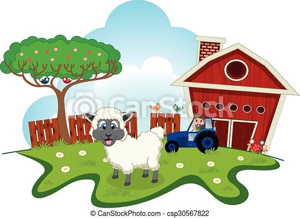 Ferme mouton dessin anim ferme mouton conception ton - Mouton dessin anime ...
